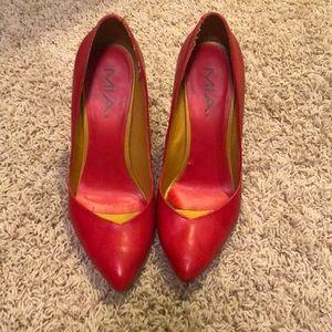 Mia orange/red high heels